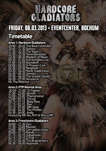 Alex Bochum gladiators timetable fr 08 03 13 eventcenter bochum