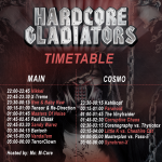 Hardcore Gladiators Timetable (Ruhr In Love Festival & Afterparty)