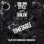 09.02.2019 – 200 BPM STYLE invites BKJN – The Timetable