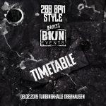 09.02.2019 – 200 BPM STYLE invites BKJN – The Timetable